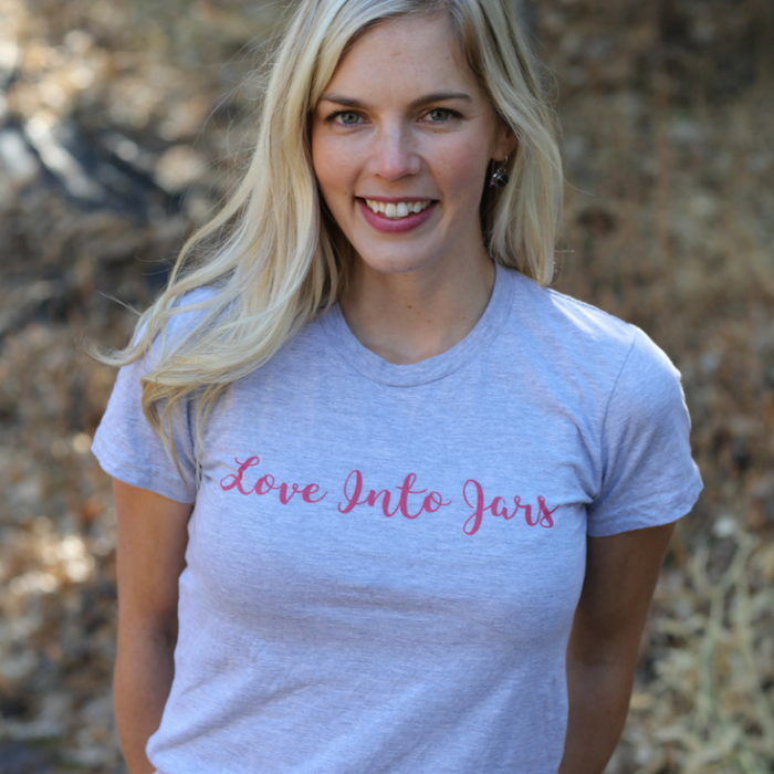 Love Into Jars Tee | Such cute shirts for canning lovers!