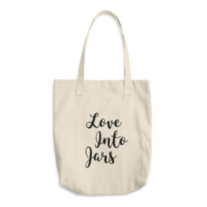 Love Into Jars Tote   For Canning Lovers Cotton Tote Bag- so cute!
