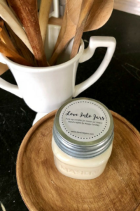Love Into Jars Candles for Mason Jar Lovers || Mason Jar Candles | Clean burning, hand poured soy candles- farmhouse style, zinc lids, and beautifully scented!