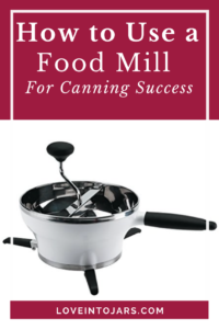A food mill is an incredibly versatile kitchen tool that I use all the time in canning applications.A food mill can be used many ways beyond canning, including pureeing super smooth mashed potatoes, baby food, and more. Read this post for how to select a food mill, how to clean a food mill, and how to use a food mill for canning success!